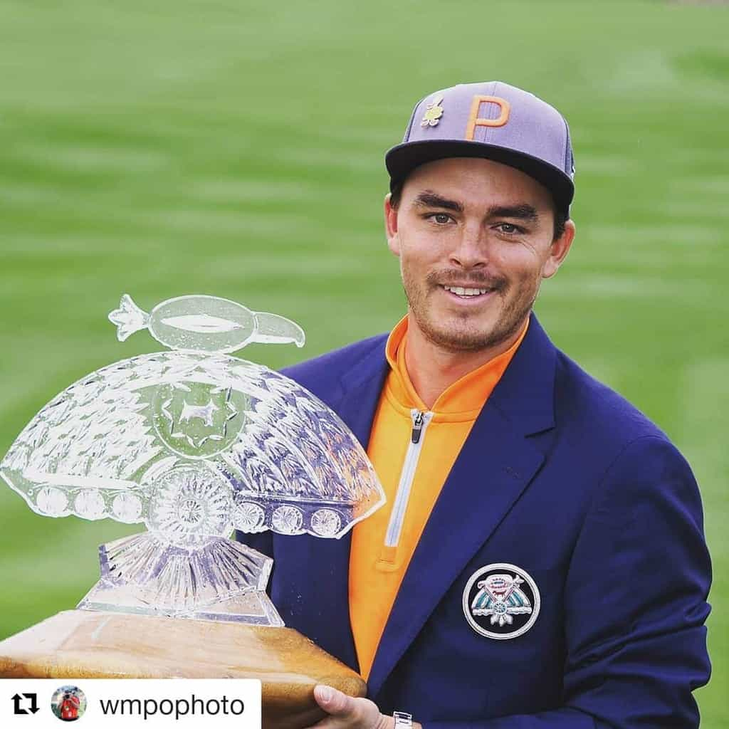 Rickie Fowler 2019 Waste Management Phoenix Open Winner with Trophy